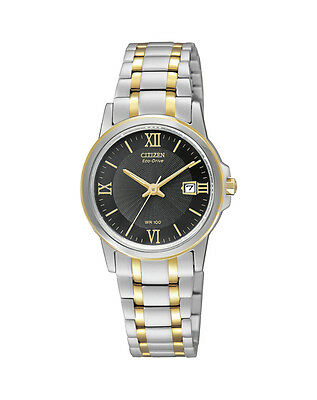 NEW Citizen Ladies Two Tone Stainless Steel Eco-Drive Watch - EW1914-56E