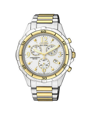 NEW Citizen Ladies Two Tone Eco-Drive Chronograph Watch - FB1354-57A