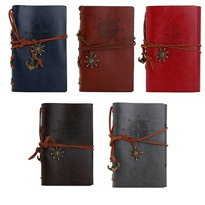 New Vintage Classic Retro Leather Blank Diary Notebook Journal Travel Notepad
