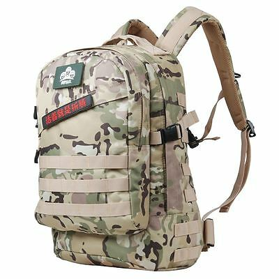 DBZD Rucksack Outdoor Travel Backpack Cycling Bag Water-proof 40L CP Camouflage