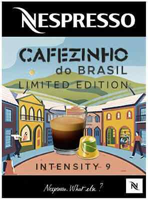 The Unforgettable Cafezinho do Brazil Ltd Ed Nespresso Coffee *50 Capsules*