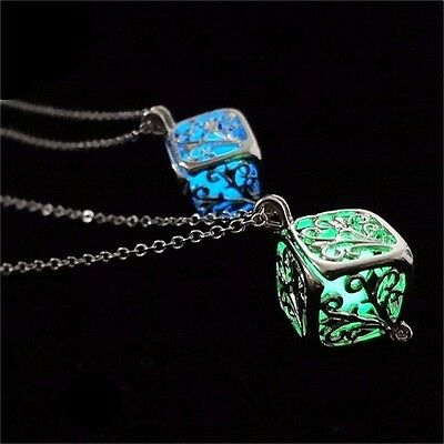 Tree of Life Cube Glows in Dark The Pendant Necklace Women's Fashion Jewelry!!