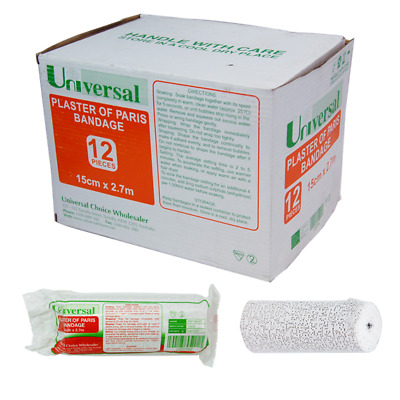 Universal Plaster Of Paris Cast Bandage 15cm x 2.7m 12 Pieces per Box