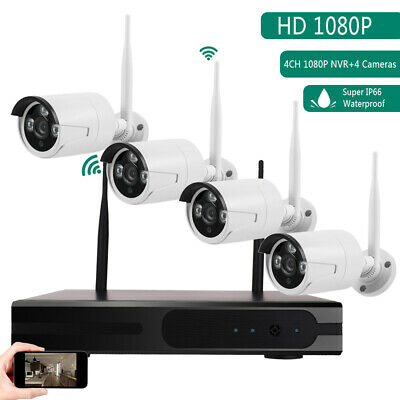"""Wireless 2.4G 4CH Home Security System 7""""TFT LCD Monitor Outdoor Video Camera"""