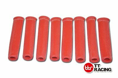 "8x 6"" HIGH HEAT SHIELD ROUGE ENGINE SPARK PLUG WIRE BOOT PROTECTOR SLEEVE COVER"