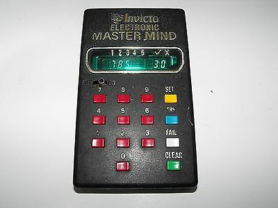 "Vintage Invicta Electronic Mastermind 1977 Handheld Game ""G.W.O"""