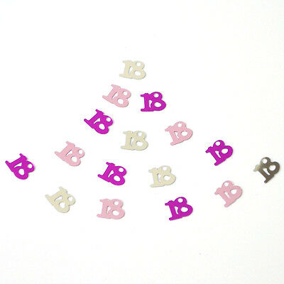 New Wholesale Birthday Party Number 18 Happy Night Decor Table Scatter Confettis