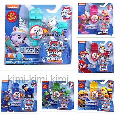 Paw Patrol Action Pack Pup Deformation Dog Backpack Projectile Toys+SNOWBOARD