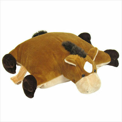 """Horse Farm Animal Pillow Soft Toy (Large 21""""). Travel Pillow - By Cuddles Time"""