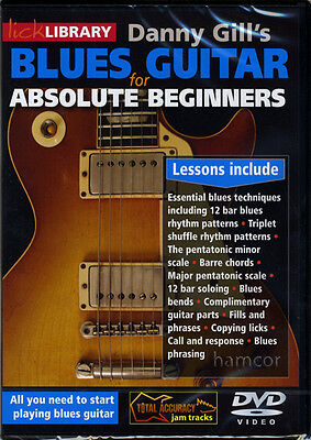 Danny Gill's Blues Guitar for Absolute Beginners DVD Lick Library Learn to Play