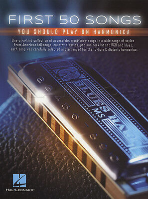 First 50 Songs You Should Play on Harmonica Sheet Music Book Pop Rock R&B Blues