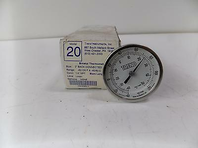 Trend Instruments Bimetal Thermometer Model 20 Nib