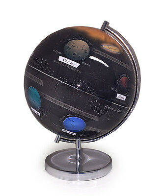 Illuminated light up LED world solar system globe