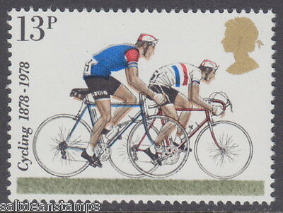 GREAT BRITAIN - 1978 13p Cycling Colour Shifts Variety - UM / MNH