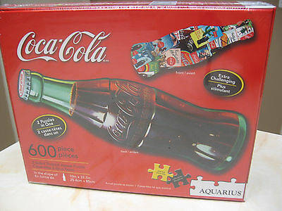 Coca Cola Two Sided Bottle Shaped Jigsaw Puzzle - 600 Piece Extra Challenging