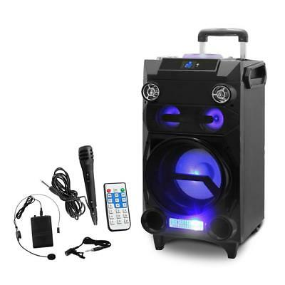 New! Pyle Portable Bluetooth Karaoke Speaker System - PA Loudspeaker MP3/USB/Mic