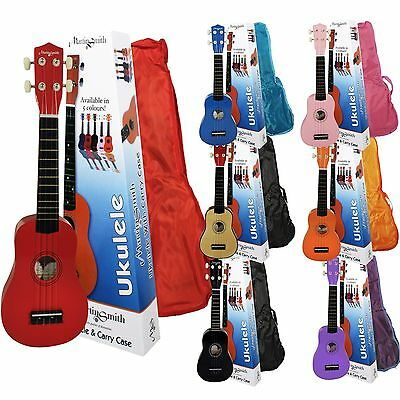 Graded Beginners Uke Soprano Ukulele Cat Ret Kids 4/4 Rockjam Tuner