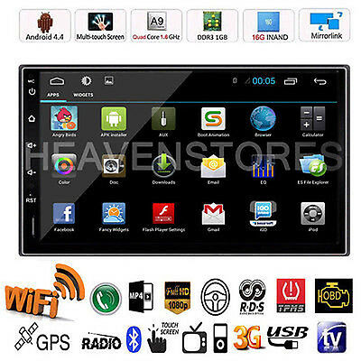"Android 4.4 Quad Core GPS 7"" 2 DIN 3G WIFI Car Radio Stereo MP5 Player GPS Navi"