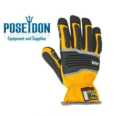 NEW Ringers Short Cuff Extrication Rescue Safety Gloves, Yellow, Size 2X-Large