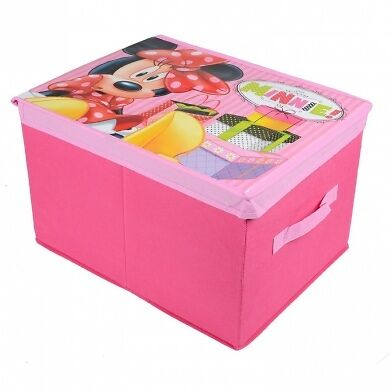 Disney Minnie Mouse Pink Foldable Storage Box With Lid Age 3+