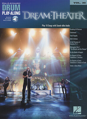 Dream Theater Drum Play-Along Sheet Music Book with Audio Vol 30 Erotomania