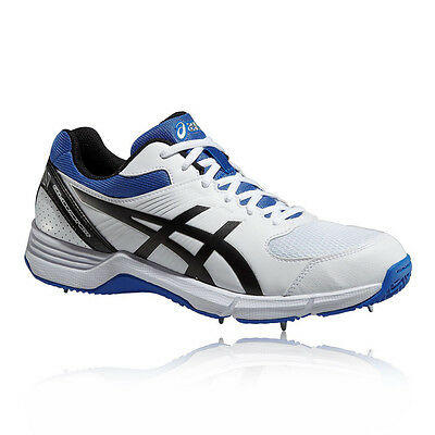 ASICS 100 NOT OUT Men White Cricket Trainers Pumps Training Sports Shoes