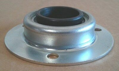 """1 1/8"""" Id Bearing In 3 Hole Metal Flange - Lot Of 4"""