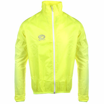 OPTIMUM Mens Lightweight Hi-Vis Rain Jacket Running Cycling