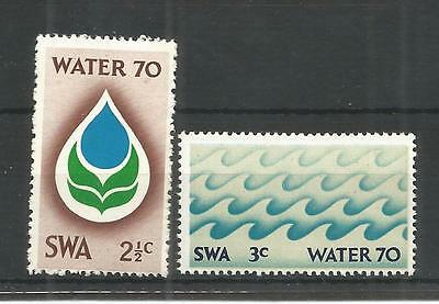 S.w.a 1970 Water Campaign Sg,222-223 Un/mm Nh Lot 1145A
