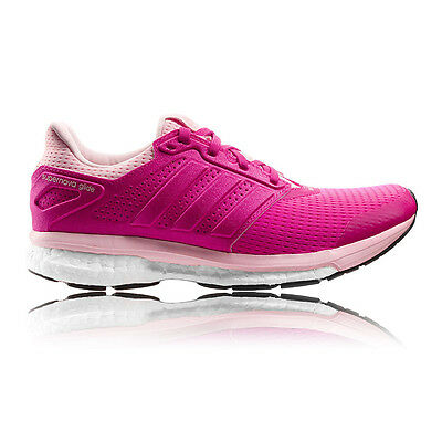 Adidas Supernova Glide Boost 8 Womens Pink Cushioned Running Shoes Trainers