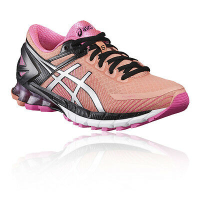 Asics Gel-Kinsei 6 Womens Pink Cushioned Running Sports Shoes Trainers Pumps