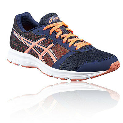 Asics Patriot 8 Womens Orange Blue Cushioned Running Sports Shoes Trainers