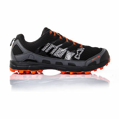 Inov8 Roclite 280 Mens Orange Black Cushioned Trail Running Sport Shoes Trainers