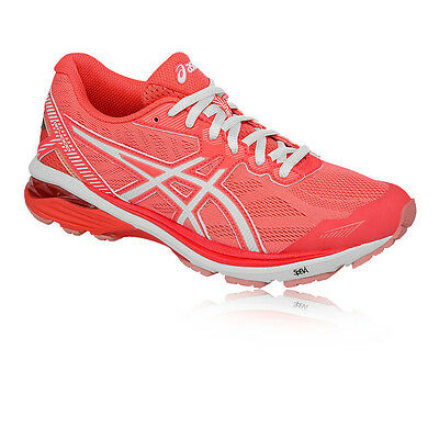 Asics GT-1000 5 Womens White Pink Support Running Sports Shoes Trainers
