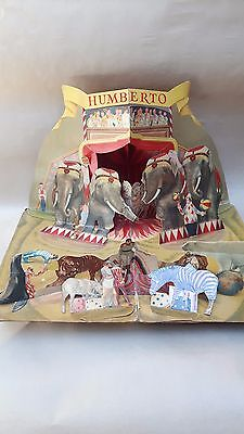 Vintage Humberto Circus Pop Up Book For Parts
