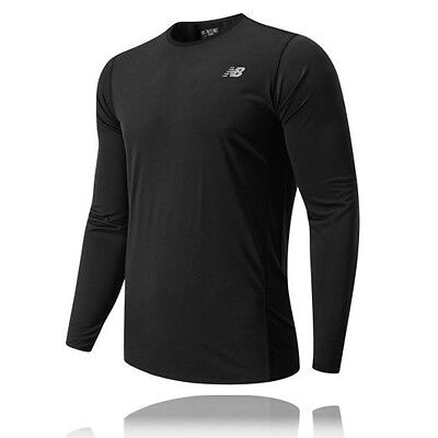 New Balance Accelerate Mens Black Long Sleeve Crew Neck Sports Running Top