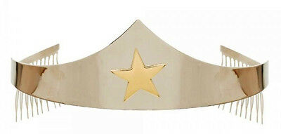 DC Comics Wonder Woman Star Silver Tiara Boxed Headband Costume