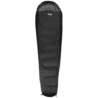 Highlander Sleepline 250 Mummy Two Season Sleeping Bag Hiking Festivals Black