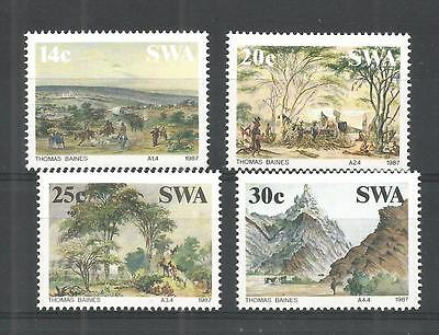 S.w.a 1987 Paintings Sg,471-474 Un/mm Nh Lot 1161A