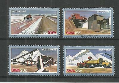 S.w.a 1981 Salt Industry Sg,386-389 Un/Mm Nh Lot 1163A