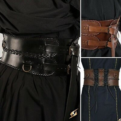 The Combat Leather Broad Belt - Perfect For Stage Costume & LARP - 2 Colours