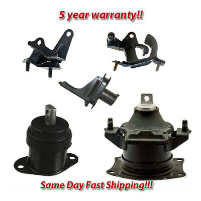 Engine Motor & Trans. Mount Set 5PCS. for 2003-2007 Honda Accord 3.0L for Manual