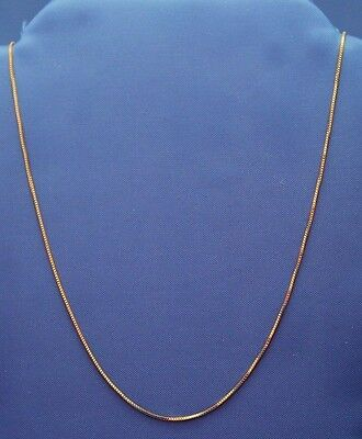 "10K YELLOW GOLD ITALIAN BOX CHAIN NECKLACE 16"" 18"" 20"" 22"" & 24"" inches"