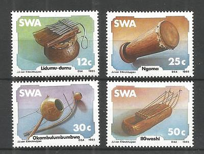 S.w.a 1985 Traditional Music Instruments Sg,451-454 Un/mm Nh Lot 1171A