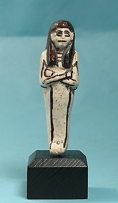 Egyptian White Faience Shabti  - Ancient Art & Antiquities
