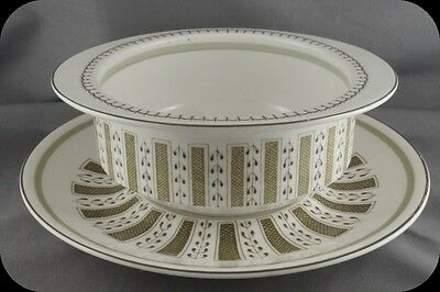 Wedgwood Susie Cooper Persia C2019 Oval Cereal Bowl on Plate