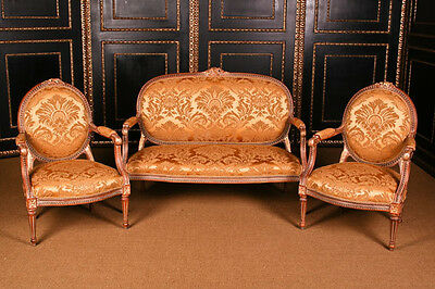 B-Dom-64 French Lounge suite in the old antique Louis Seize Baroque Style