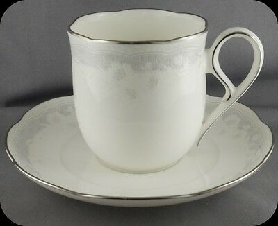 Noritake Victorian Lace Cup and Saucer 9744
