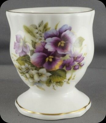 Shelly Ann Collection Pansies Egg Cup