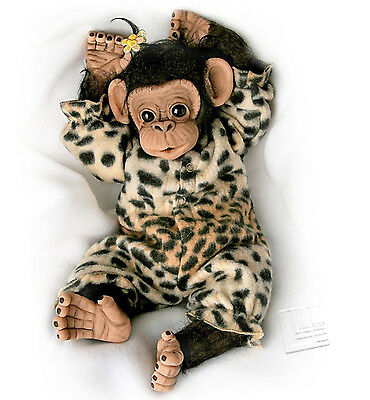'Little Ubu' Lifelike Baby Chimpanzee Doll  by Ashton Drake
